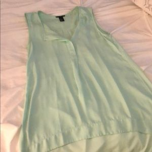 H&M Tops - H&M High low mint green tunic